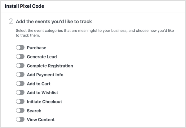add events for facebook pixel