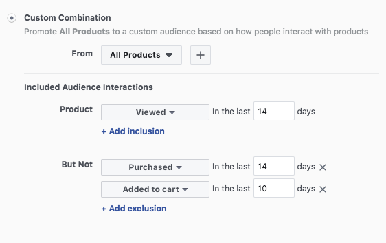 separate ad sets for facebook dynamic ads