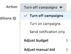 facebook-automated-rule-actions